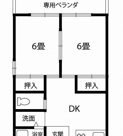 貸アパート 可児市下恵土(2DK)